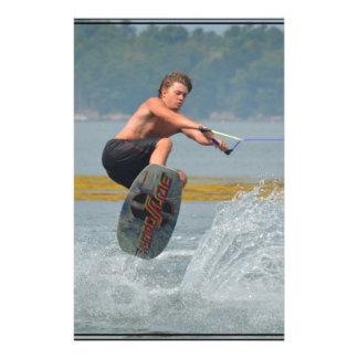 Wild Wakeboarder Customized Stationery