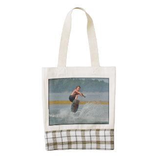 Wild Wakeboarder Zazzle HEART Tote Bag