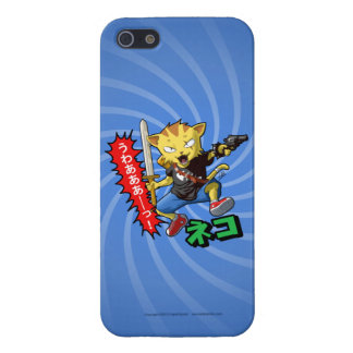Wild Warrior Cat Boy with Gun and Sword Cases For iPhone 5