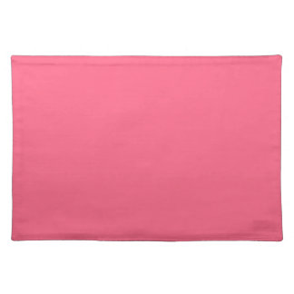 WILD WATERMELON PINK (solid color background) ~.jp Placemat