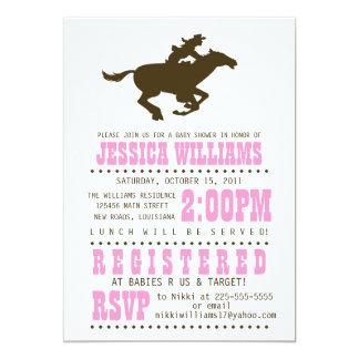 Wild West Baby Shower 5x7 Paper Invitation Card