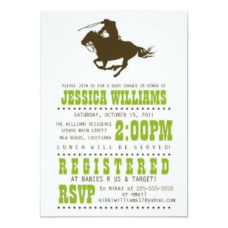 Wild West Baby Shower Card