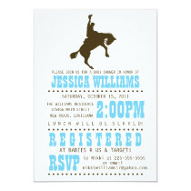 Wild West Baby Shower Invitation
