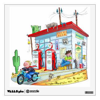 Wild West Bike Rider Boy - Wall Decal