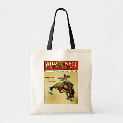 Wild West Bronc Rider Tote Bag