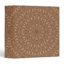 Wild West Brown Rope Kaleidoscope 3 Ring Binder