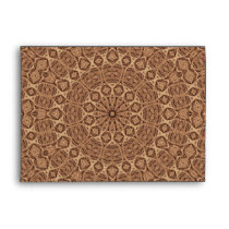 Wild West Brown Rope Kaleidoscope Envelope