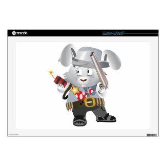 "Wild West Bunny 17"" Laptop Skins"