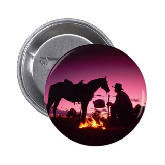 Wild West Camping Pinback Buttons