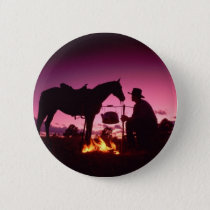 Wild West Camping Pinback Button