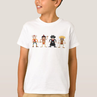 Wild West Cartoon Cowboys and Indians Shirt