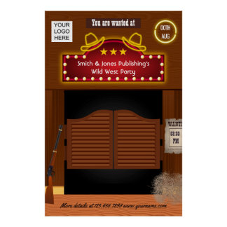 Wild West Corporate Function add logo Poster