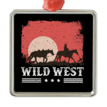 Wild West Cowboy Christmas Ornament