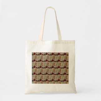Wild West Cowboy Country Western on Burlap Pattern Budget Tote Bag