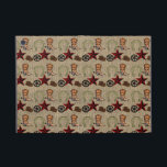 """Wild West Cowboy Country Western on Burlap Pattern iPad Mini Cover<br><div class=""""desc"""">Wild West Cowboy Western on Burlap Pattern Design including cowboy boots, cowboy hat, a wagon wheel, a horse shoe, and a red western star, all on top of a printed burlap background. Perfect for anyone who loves cowboys or western. &quot;western&quot; &quot;wild west&quot; &quot;Cowboy&quot; &quot;Cowboys&quot; &quot;horseshoes&quot; &quot;wagon wheel&quot; &quot;burlap&quot; &quot;country western&quot;...</div>"""