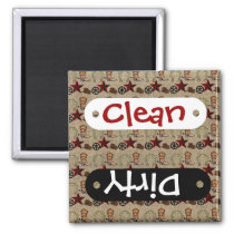Wild West Cowboy Country Western on Burlap Pattern Magnet