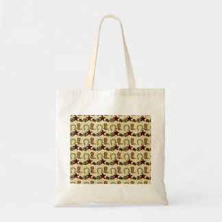Wild West Cowboy Country Western on Burlap Print Canvas Bags