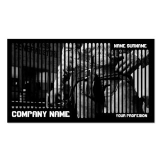 Wild west Cowboy in Black Business Card Templates