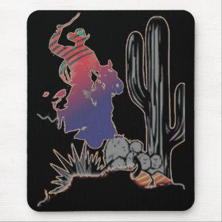 wild west cowboy mousepad