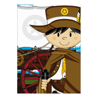 Wild West Cowboy Sheriff Bookmark Business Card Templates
