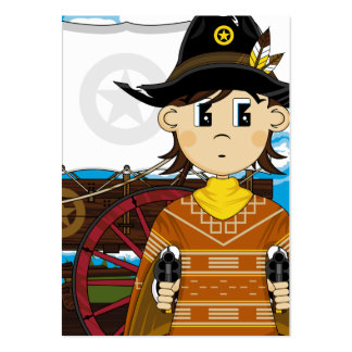 Wild West Cowboy Sheriff Bookmark Business Card Template
