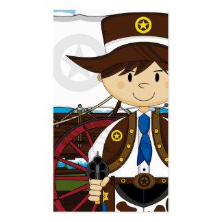 Wild West Cowboy Sheriff Bookmark Business Cards