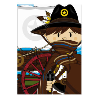 Wild West Cowboy Sheriff Bookmark Business Card