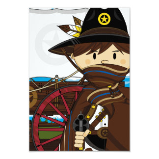 Wild West Cowboy Sheriff Invitation