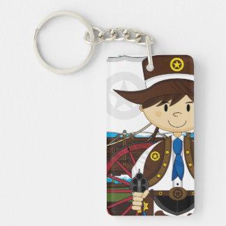 Wild West Cowboy Sheriff Keychain