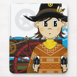 Wild West Cowboy Sheriff Mousepad