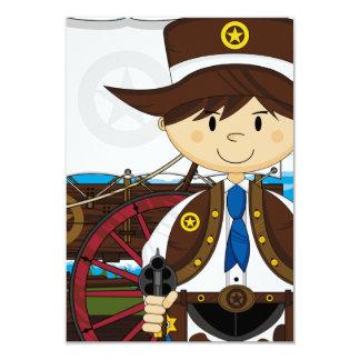 Wild West Cowboy Sheriff RSVP Card