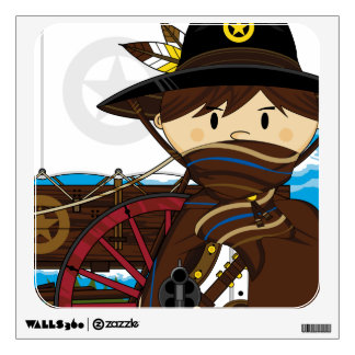 Wild West Cowboy Sheriff Wall Decal