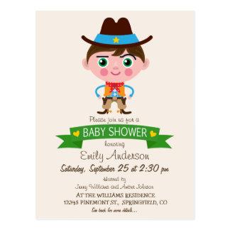 Wild West Cowboy Theme Baby Shower Postcard