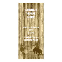 Wild west cowboy theme church wedding program