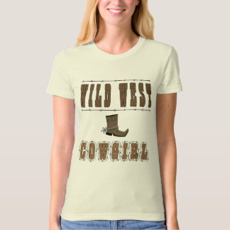 Wild West Cowgirl Style T-Shirt