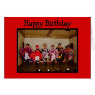 Wild West Dance Hall Girls Happy Birthday Greeting Card