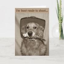 Wild West Golden Cowboy Birthday Card