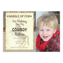 Wild West Horse Photo Birthday Party Invitation