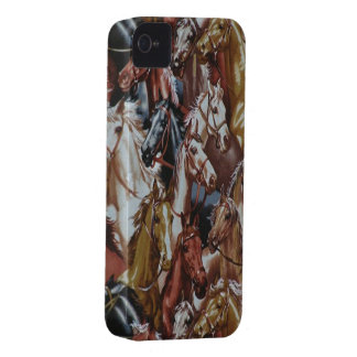 Wild West Horses Blackberry Bold 9700/9780 iPhone 4 Cover