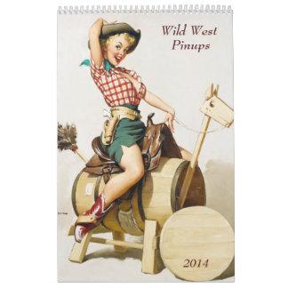 Wild West Pinups 2014 Wall Calendars