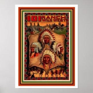 Wild West Ranch Poster 12 x 16