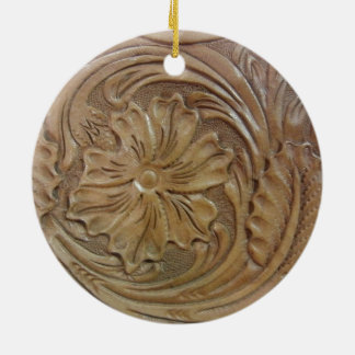 Wild West Rose Ceramic Ornament