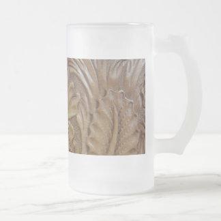 Wild West Rose Frosted Glass Beer Mug