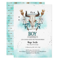 Wild West | Rustic Skull & Arrows Boy Baby Shower Invitation