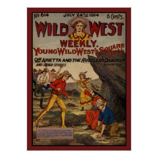 Wild West Rustlers Cowboys Cowgirls Poster