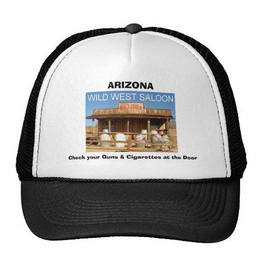 WILD WEST SALOON, ARIZONA, Check your Guns & Ci... Hats