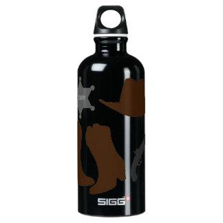 Wild West Sheriff Aluminum Water Bottle