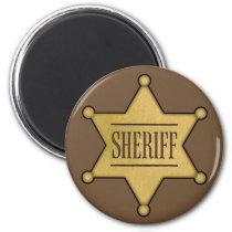 Wild West Sheriff's Badge — fridge magnet