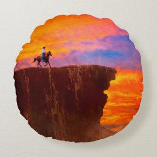 Wild West Sunsets Round Pillow
