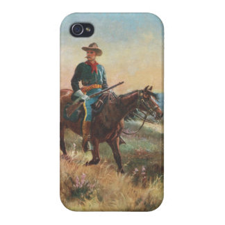 Wild West Vintage Cowboy iPhone 4 Cover